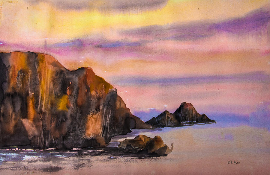 Coastal Sunset by Vickie Myers