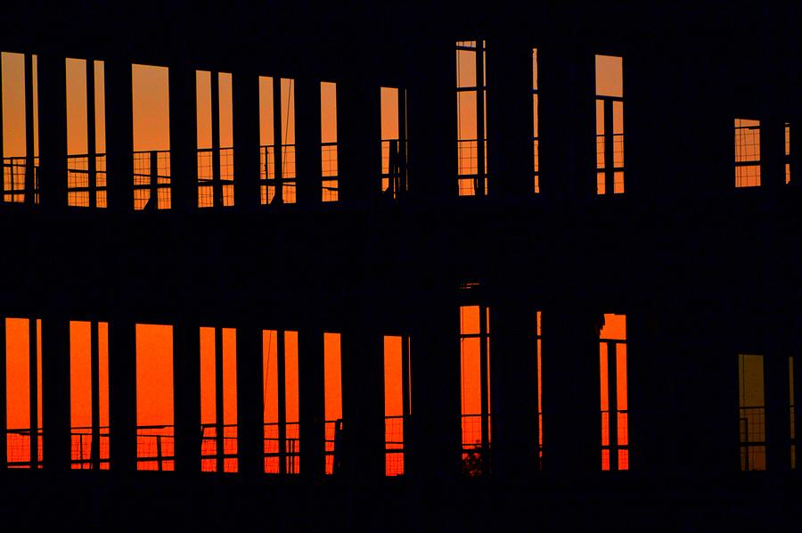 Abstract Photograph - Sunset Color In The Spaces 2  by Lyle Crump