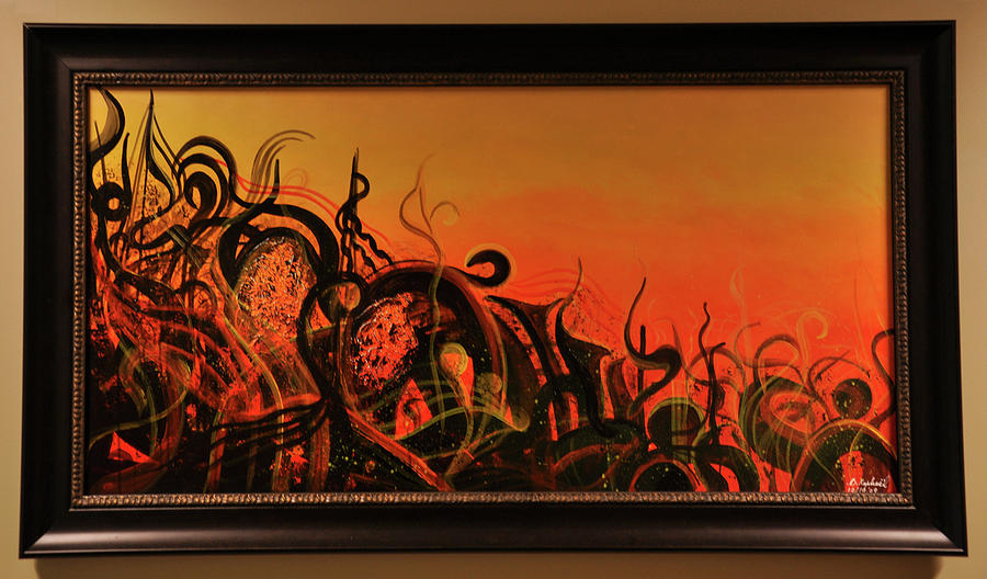 Abstract Painting - Sunset Creation by Darly Raphael