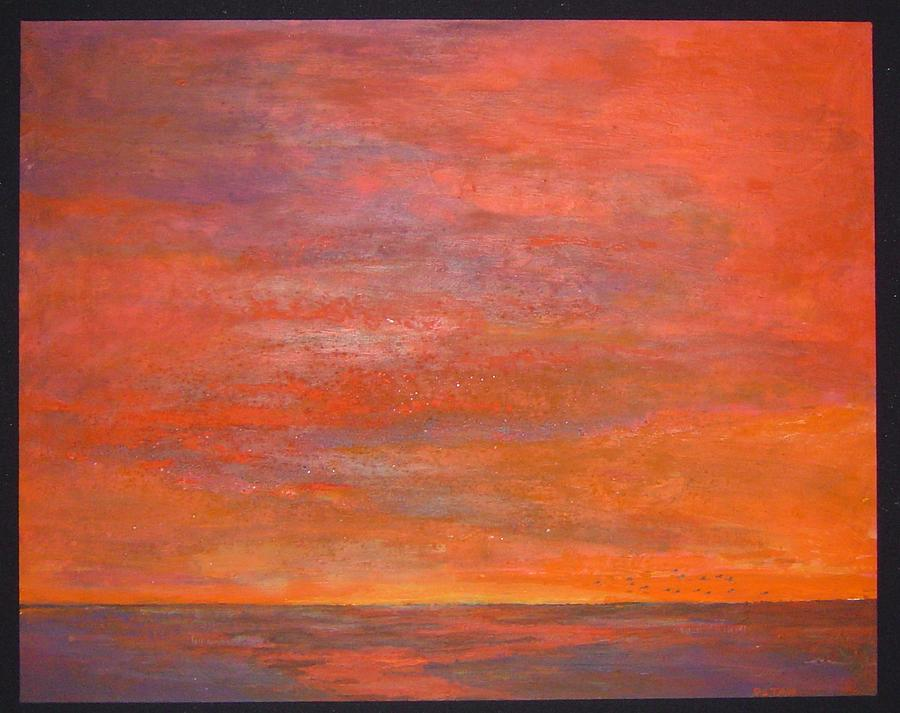 Unique Painting - Sunset by Datan Datan