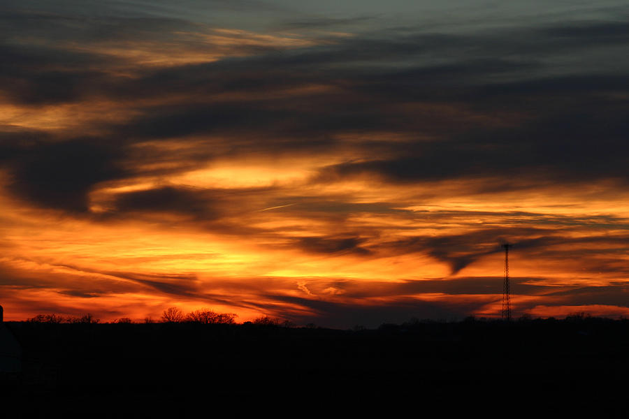 Sunset Photograph - Sunset by Dave Clark