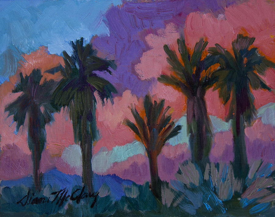 Palm Springs Painting - Sunset by Diane McClary