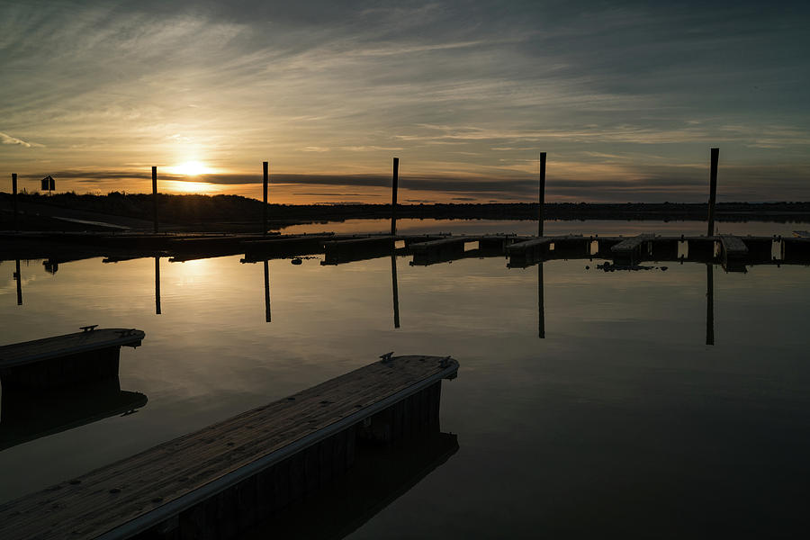 2017 Photograph - Sunset Docks by Justin Johnson