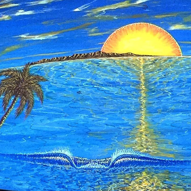 Sunset Painting - Sunset Dream by Paul Carter