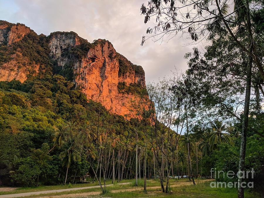 Thailand Photograph - Sunset eflecting On Cliffs Thailand by Nicholas Braman