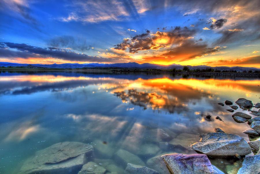 Colorado Photograph - Sunset Explosion by Scott Mahon