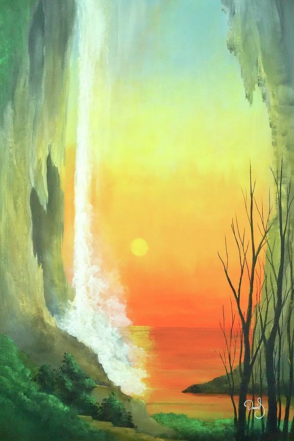 Flowers Painting - Sunset Fall  by Daniel Sanchez