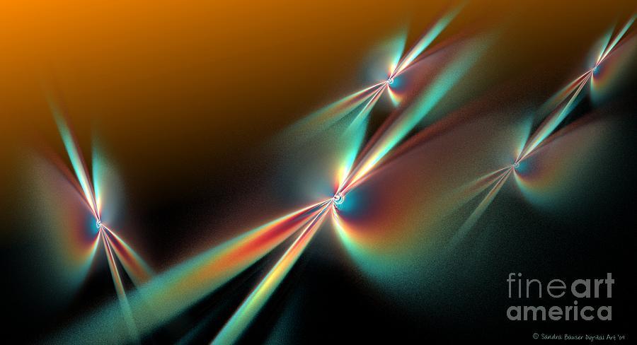 Digital Digital Art - Sunset Flyers by Sandra Bauser Digital Art