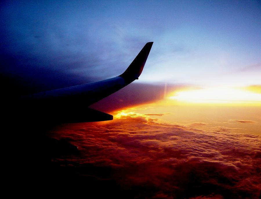 Colors Photograph - Sunset Flying by Piety Dsilva