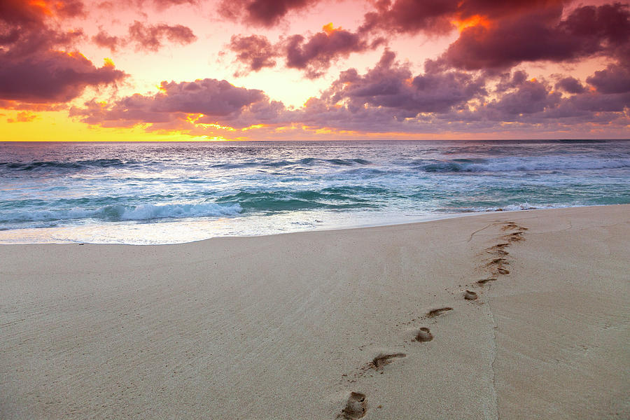 Sunset Footprints by Sean Davey