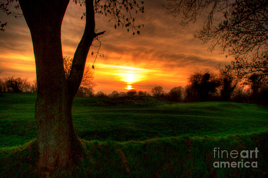 Rath Photograph - Sunset For The Past by Kim Shatwell-Irishphotographer