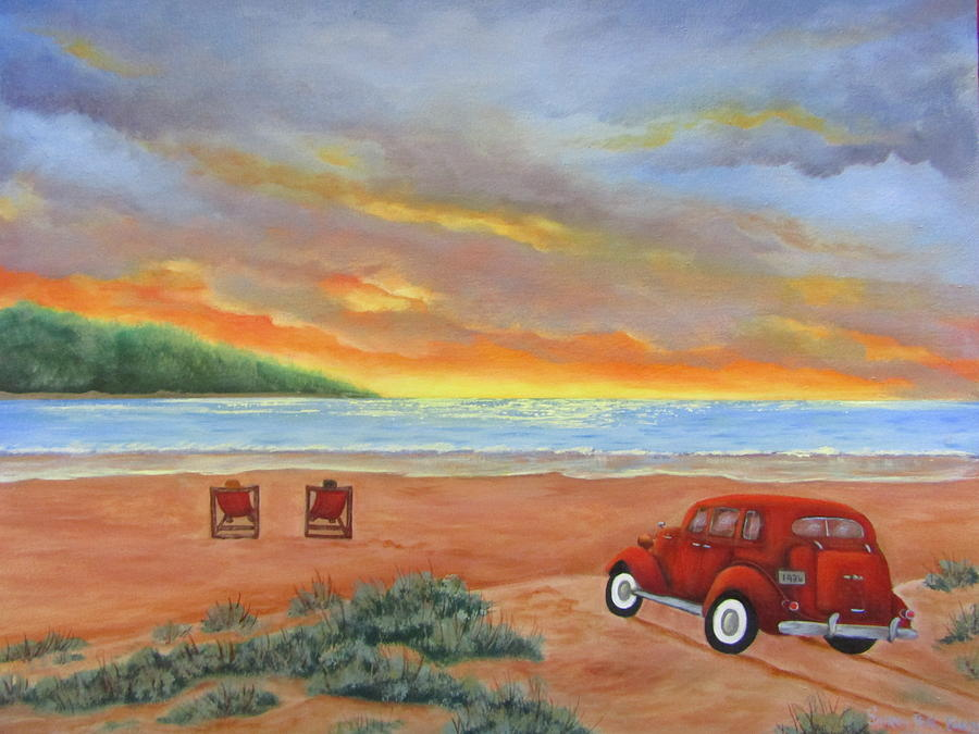 Sunset For Two  Painting by Sharon Coray