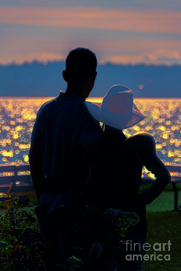 Silhouettes Photograph - Sunset For Two by Viktor Birkus