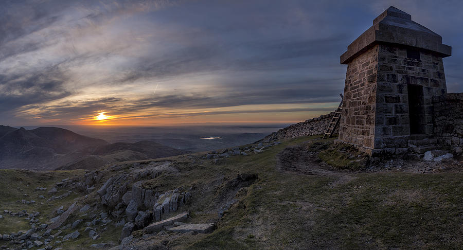 Blue Photograph - Sunset From Commedagh by Glen Sumner