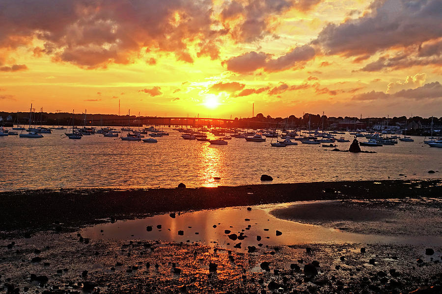 Sunset from Dead Horse Beach Salem MA Photograph by Toby McGuire
