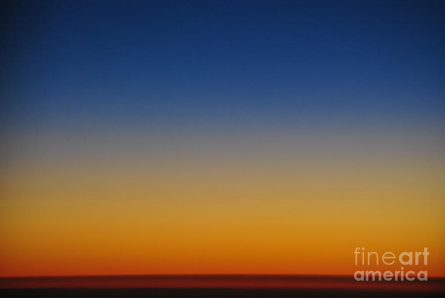 Atmosphere Photograph - Sunset From Space by Frank Larkin