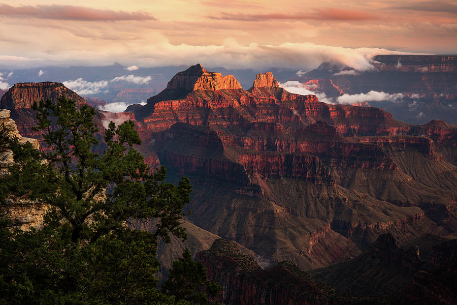 Arizona Photograph - Sunset From The Grand Canyon Lodge by Adam Schallau