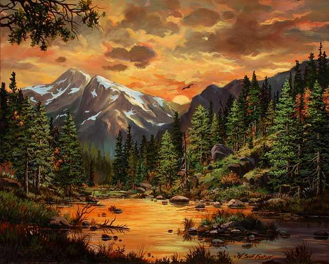 Sunset Glory Painting by W  Scott Fenton