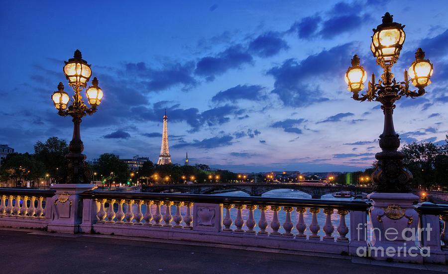 Sunset Glow in Paris by Tim Mulina