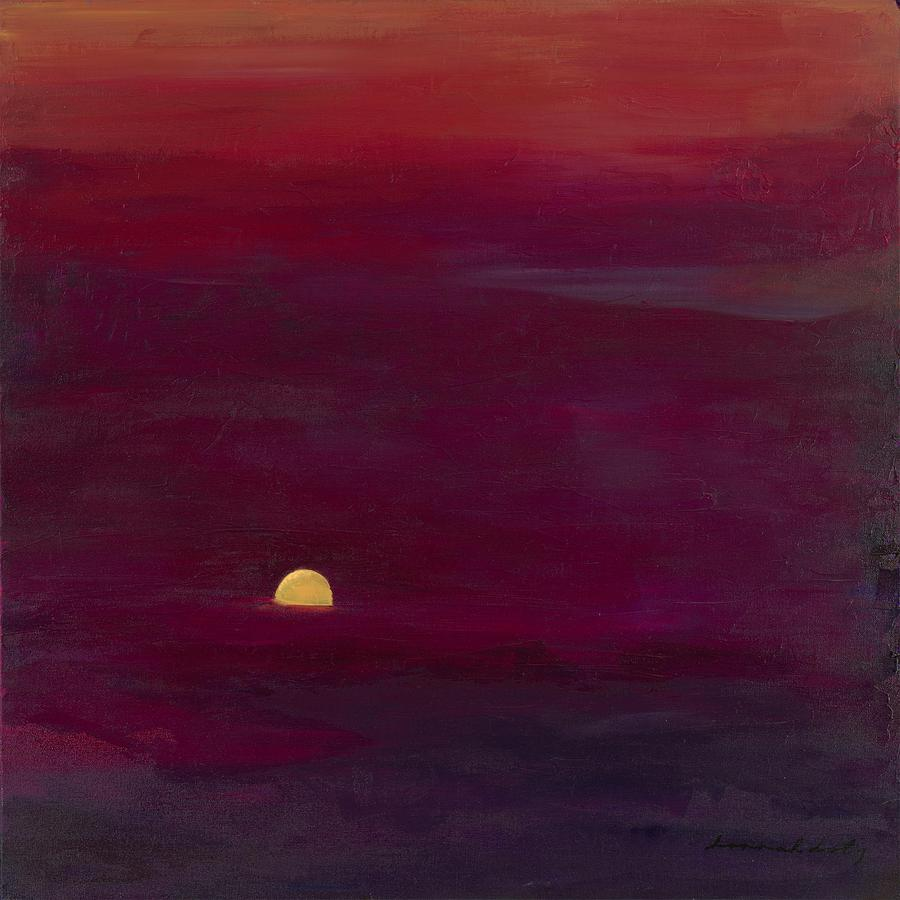 Landscape Painting - Sunset by Hannah Doty