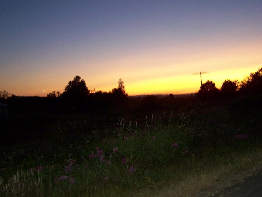 Digital Photography Photograph - Sunset Haze by Laurie Kidd