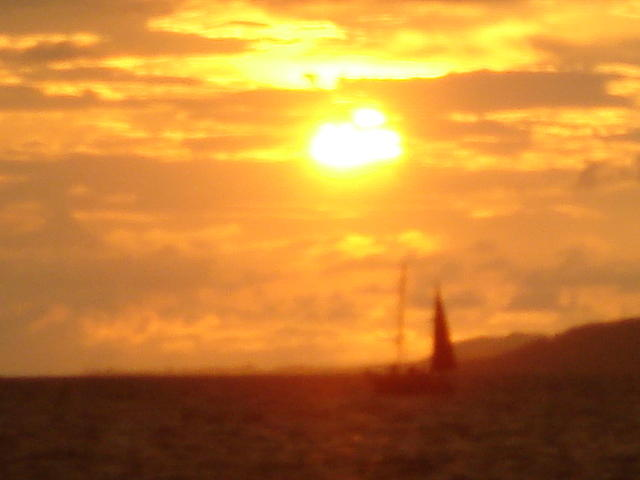 Seascape Photograph - Sunset Haze by Randall Slinkard