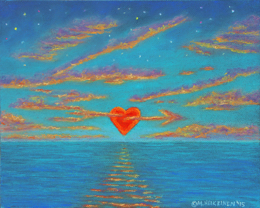Sunset Heart 01 by Michael Heikkinen
