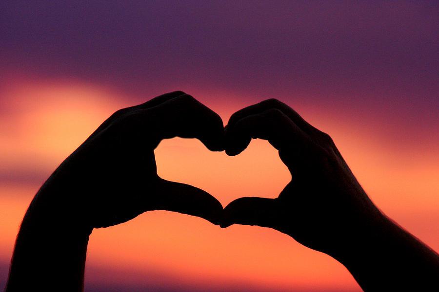 Sunset Heart Photograph By Nanette Hert