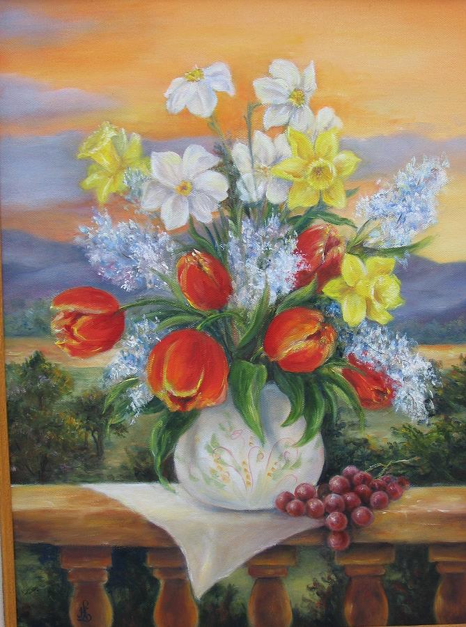 Still Life Painting - Sunset by Helen Meyers