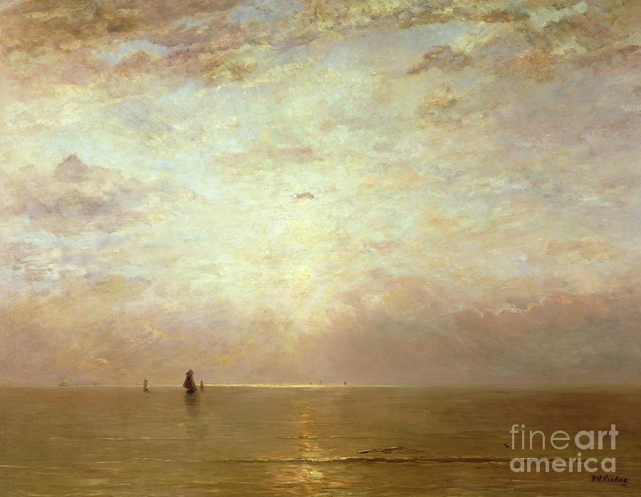 Sunset Painting - Sunset by Hendrik William Mesdag