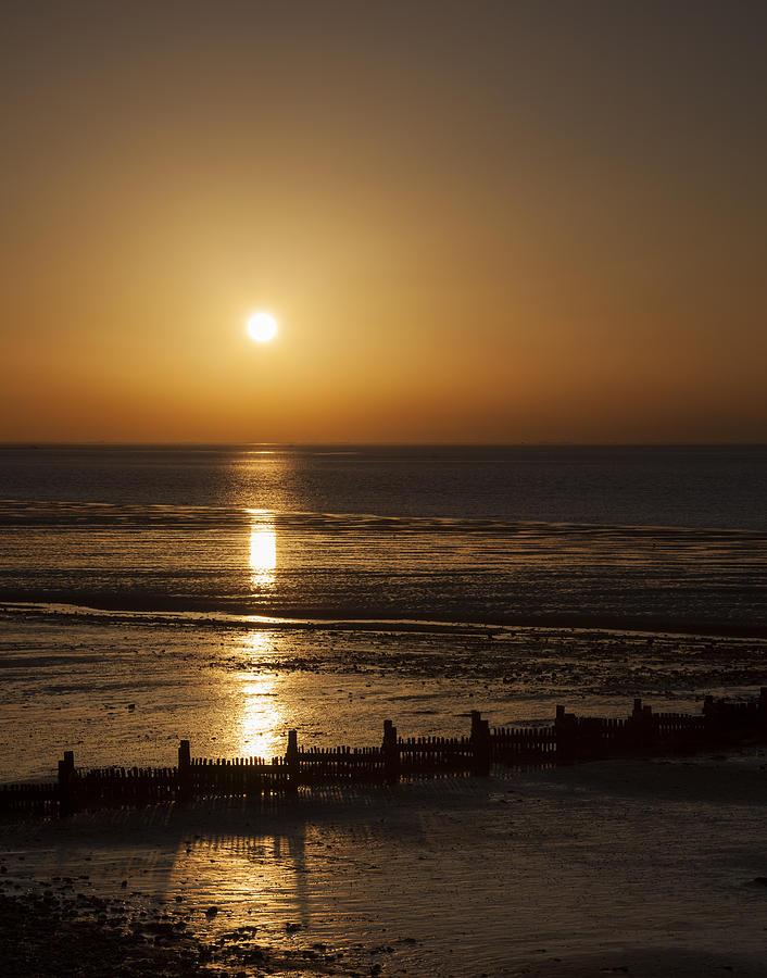 Sunset Photograph - Sunset Hunstanton by Gillian Dernie