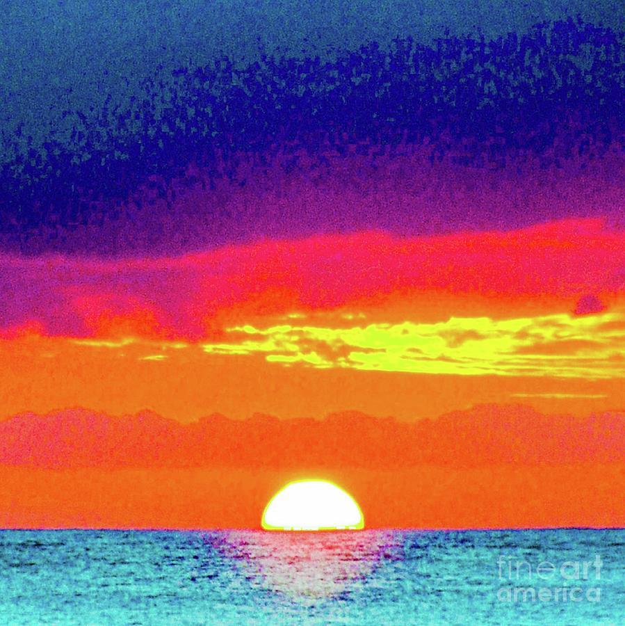 Sunset Photograph - Sunset In Abstract 500 by D Davila