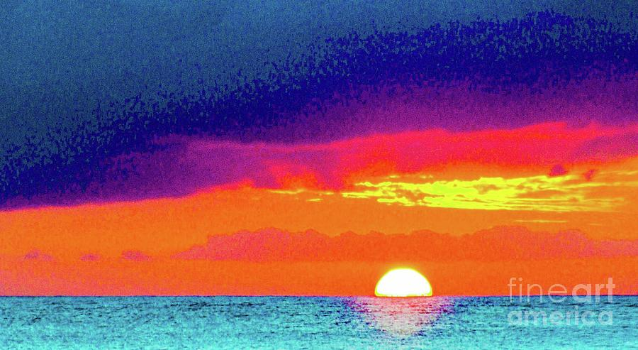 Sunset Photograph - Sunset In Abstract  by D Davila