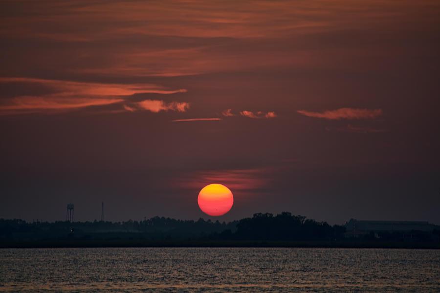 Sunset in Biloxi 2 by Cathy Jourdan