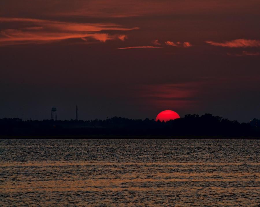 Sunset in Biloxi 3 by Cathy Jourdan