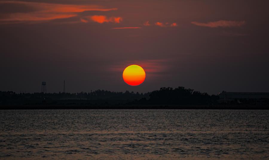 Sunset in Biloxi by Cathy Jourdan