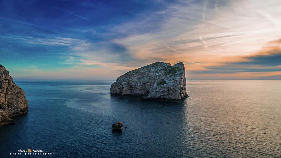 Island Photograph - Sunset In Capo Caccia by Nicola Maria Mietta