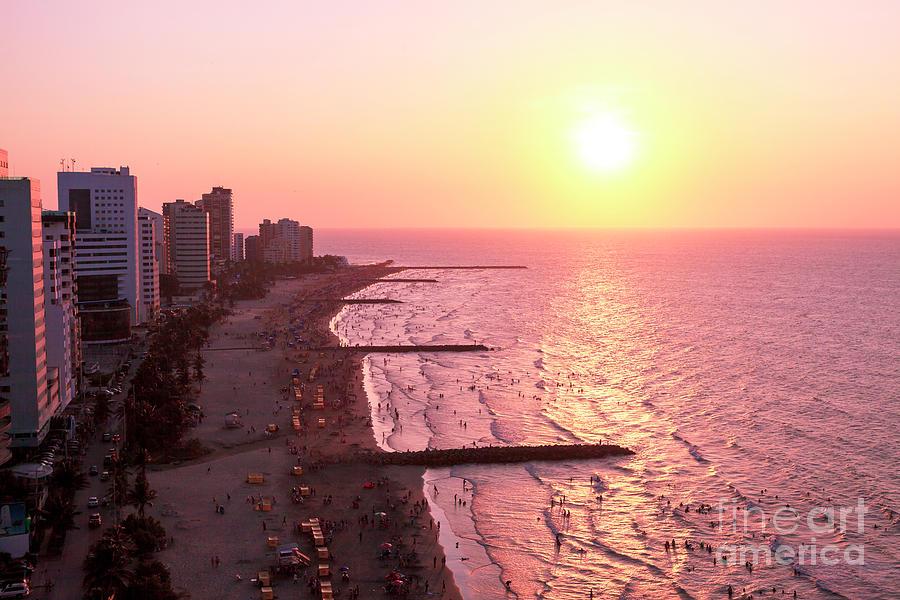 Sunset Photograph - Sunset In Cartagen by John Rizzuto