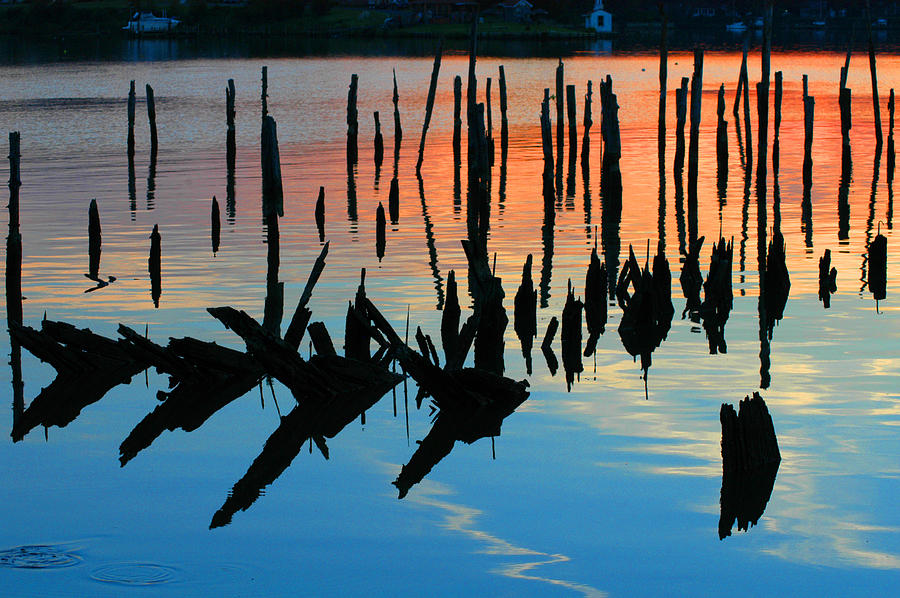 Clay Photograph - Sunset In Colonial Beach Virginia by Clayton Bruster
