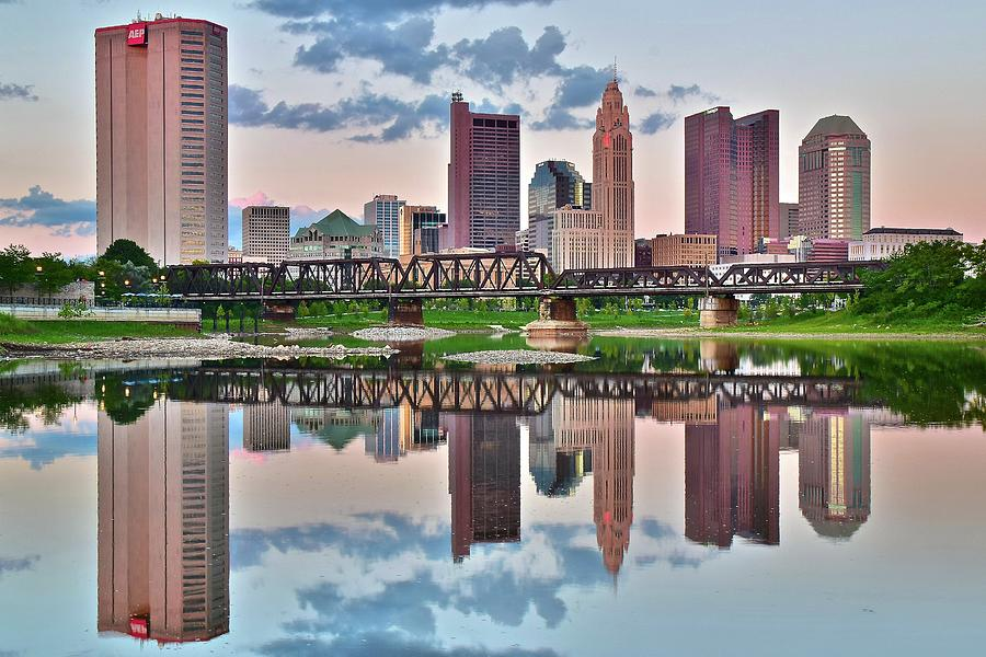 Columbus Photograph - Sunset In Columbus by Frozen in Time Fine Art Photography