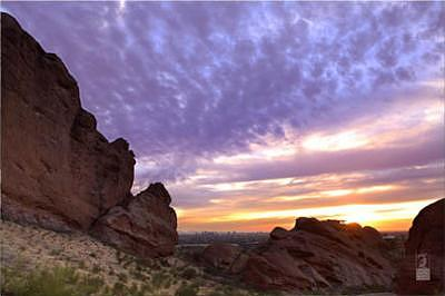 Phoenix Photograph - Sunset In Echo Canyon by Davin Lavikka