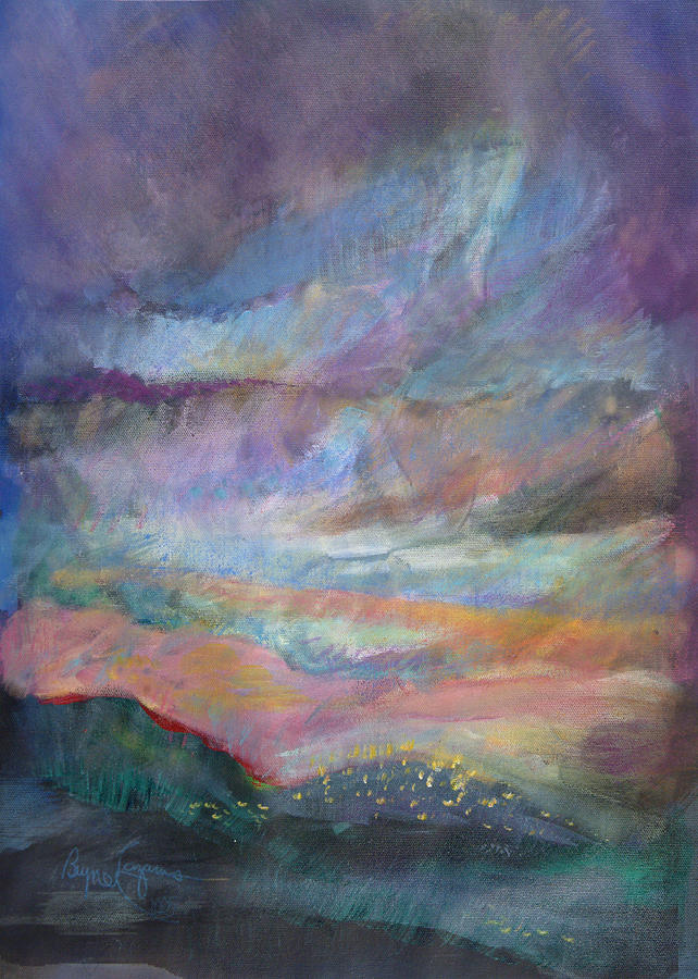 Sunset In Efrat Pastel by Bryna La