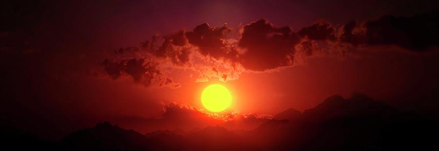 Sunset Photograph - Sunset In Egypt 9 by Johanna Hurmerinta