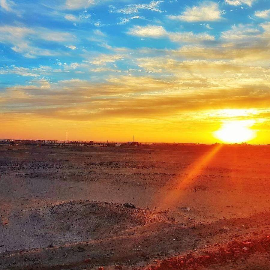 Sunset Photograph - Sunset In Egypt by Usman Idrees