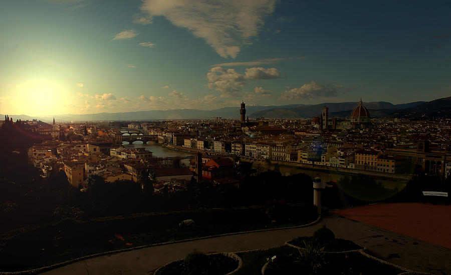 Sunset In Florence Photograph