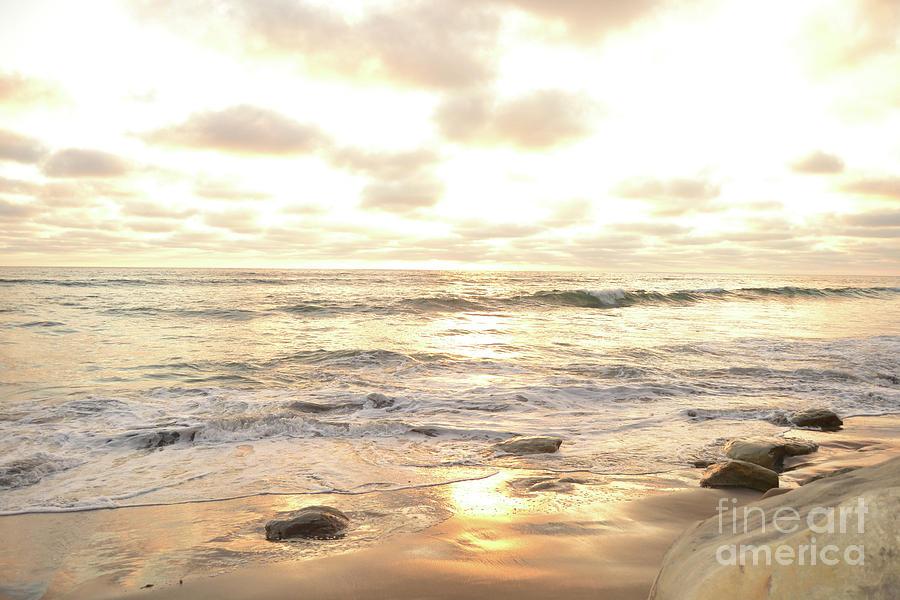 Sunset in Golden Tones Torrey Pines Natural Preserves #1 by Heather Kirk