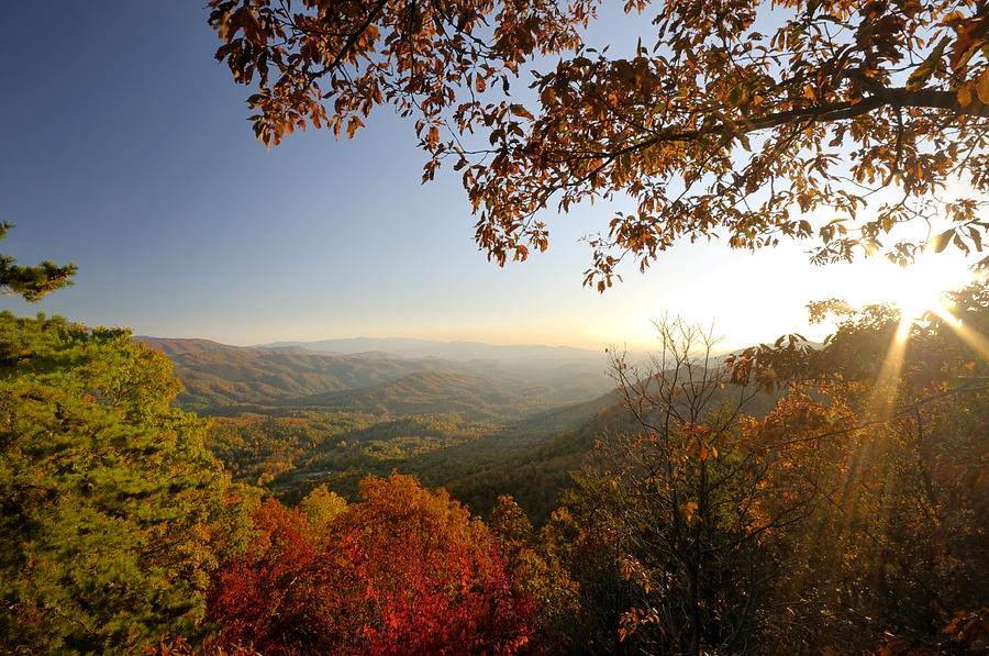 Sunset Photograph - Sunset In Great Smoky Mountains by Darrell Young