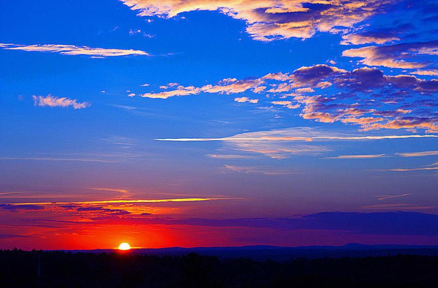 Sunset In Hudson Nh Photograph by Kenneth Bourassa