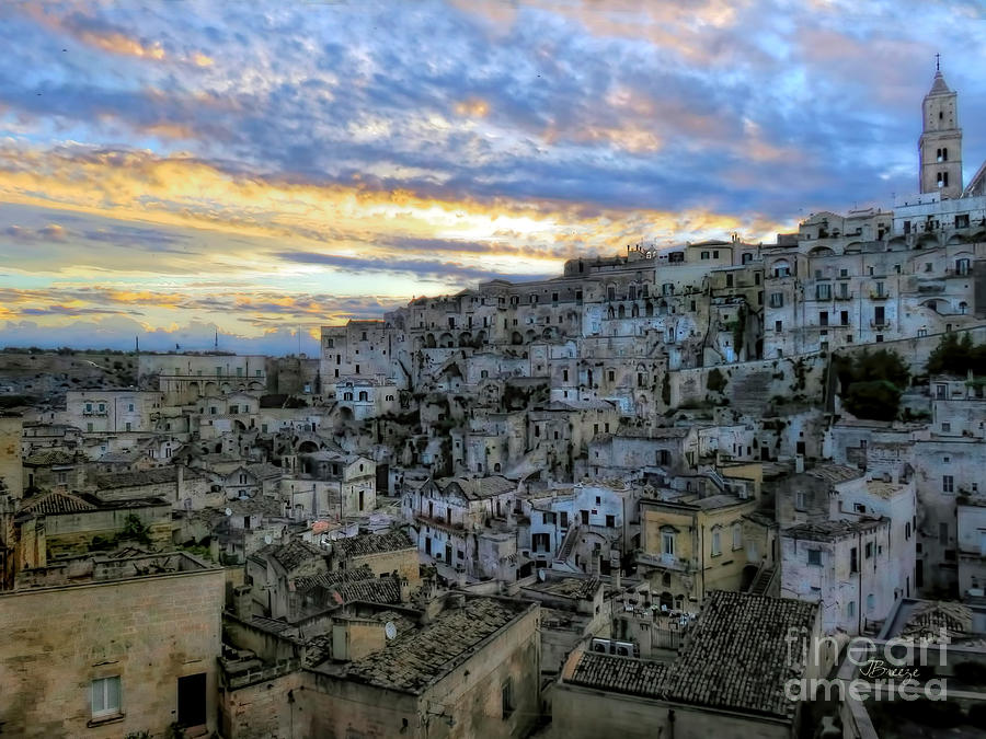 Matera Photograph - Sunset In Matera.italy by Jennie Breeze