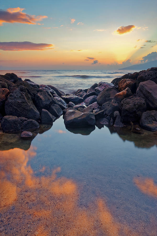 Sunset In Maui Photograph